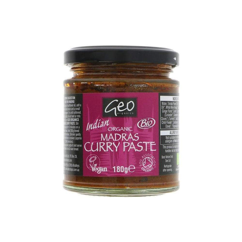 Geo Organics Madras Curry Paste (180g) - Live Well