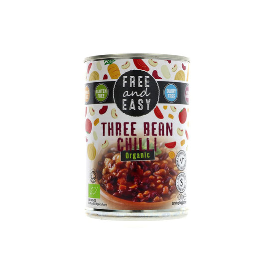 Free and Easy Three Bean Chilli (400g)