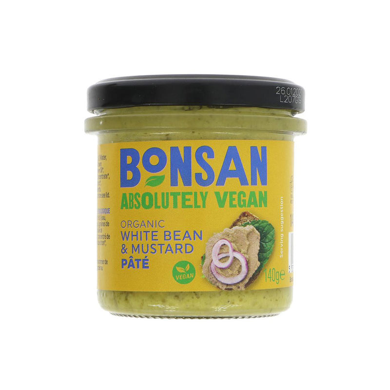 Bonsan Organic White Bean and Mustard Paté (140g)