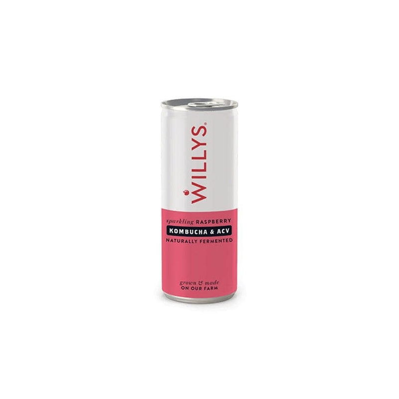 Willy's Kombucha & Apple Cider Vinegar Raspberry Drink (250ml)