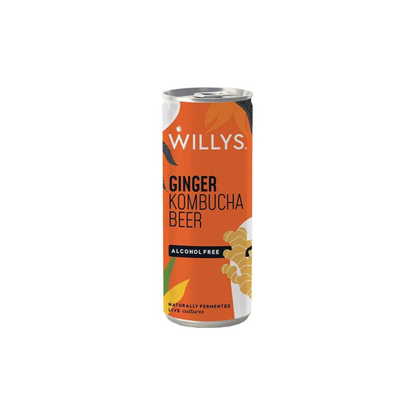 Willy's Ginger Kombucha Beer (Non-Alcoholic 250ml)
