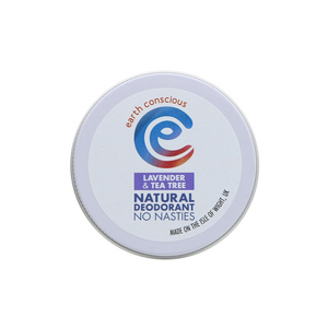 Earth Conscious Lavender and Tea Tree Natural Deodorant Tin (60g)