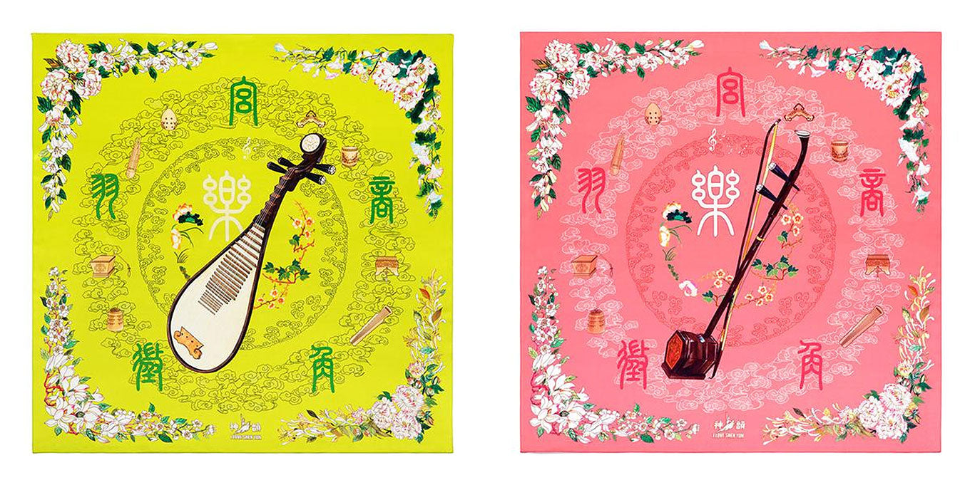 Pipa and Erhu Scarves