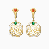 Tang Flower Dangle Earrings - Shen Yun Shop