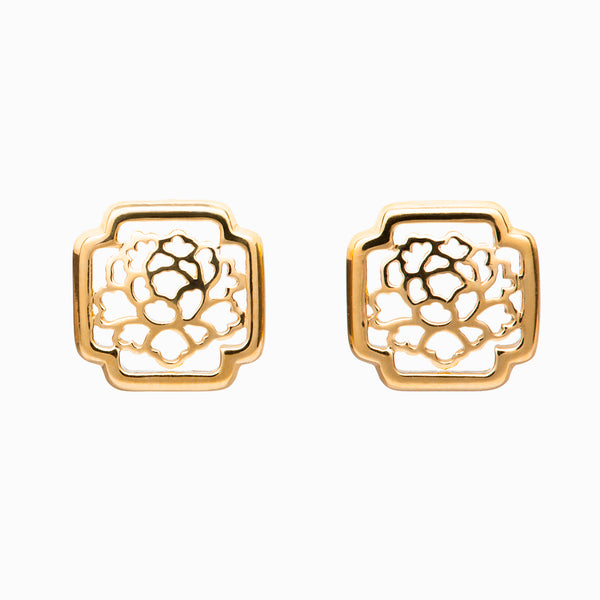 Tang Flower Stud Earrings - Shen Yun Shop