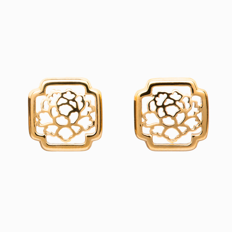 Tang Flower Stud Earrings - Shen Yun Collections