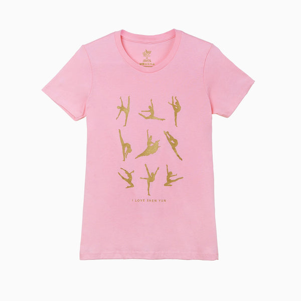 Classical Chinese Dance Techniques T-shirt - Pink