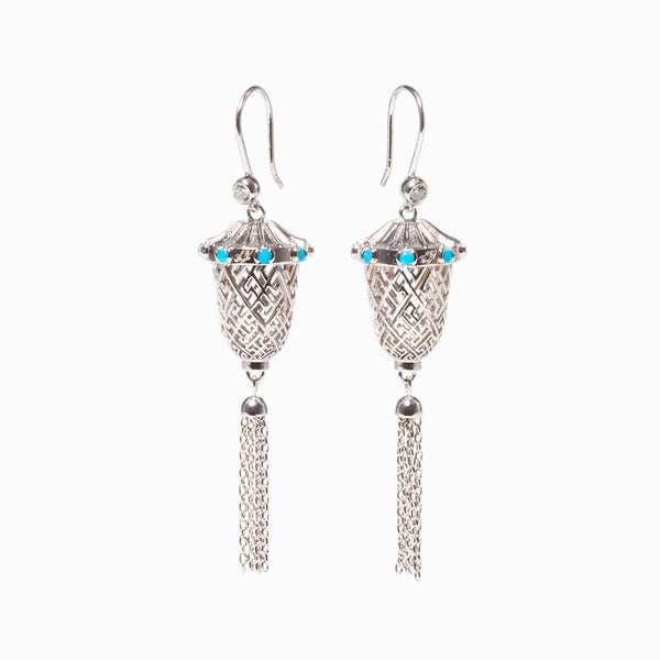 Lantern Joy Earrings - Silver - Shen Yun Shop