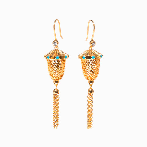 Lantern Joy Earrings - Gold - Shen Yun Shop