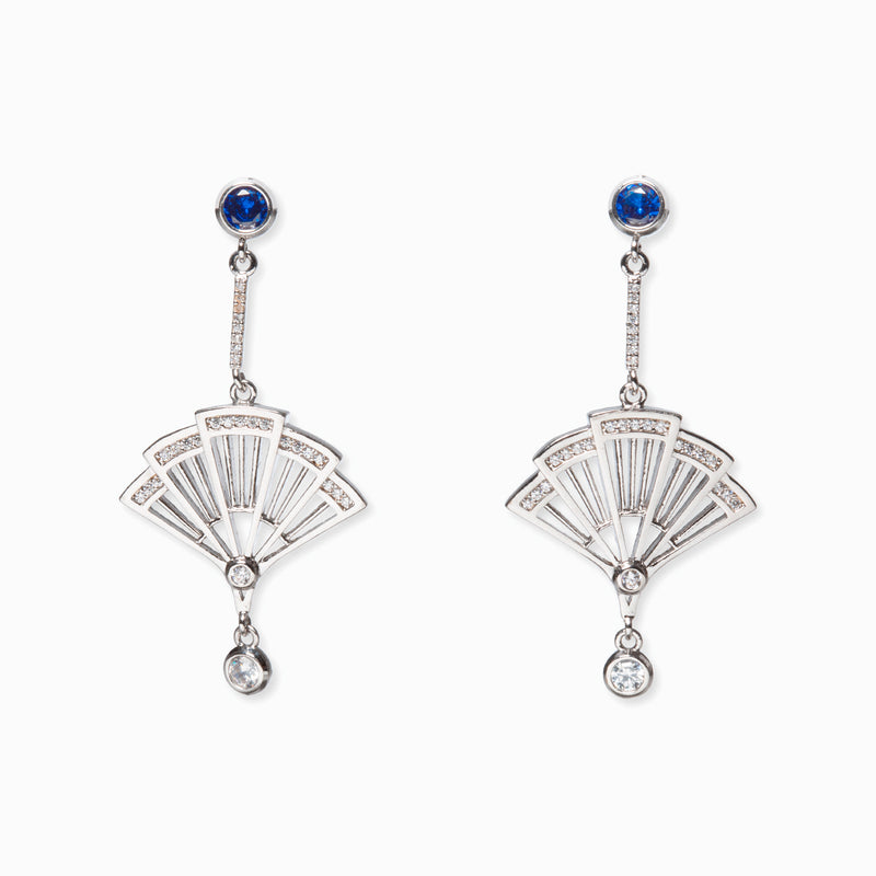Fan Earrings - Silver - Shen Yun Collections