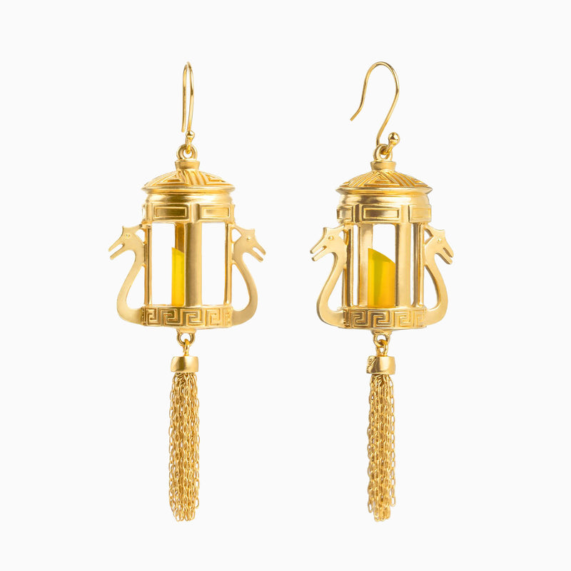 Lantern Grace Earrings - Shen Yun Collections