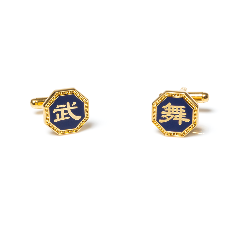 Martial Arts/Dance Cufflinks — Gold