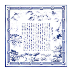 Poets of the Orchid Pavilion Silk Scarf