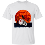 Crow on Skull w/ Blood Moon T-Shirt - [evil-amy-s-terror-shop]