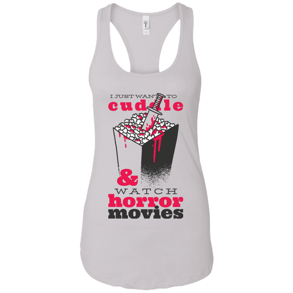 Cuddle & Horror Movies Racerback Tank - [evil-amy-s-terror-shop]