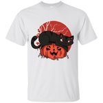 Black Cat on Pumpkin Youth T-Shirt - [evil-amy-s-terror-shop]