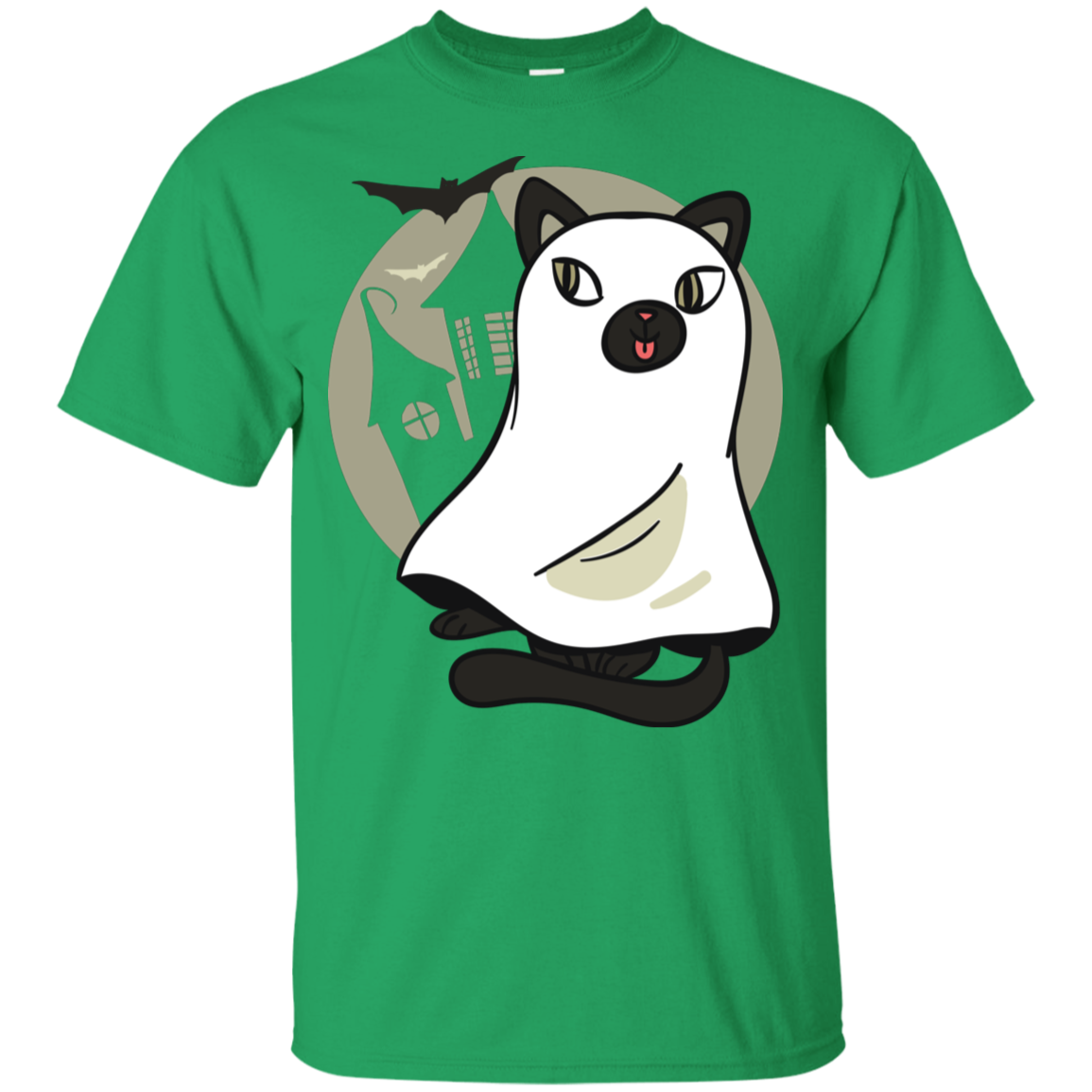 Cat In Ghost Costume Youth T-Shirt - [evil-amy-s-terror-shop]