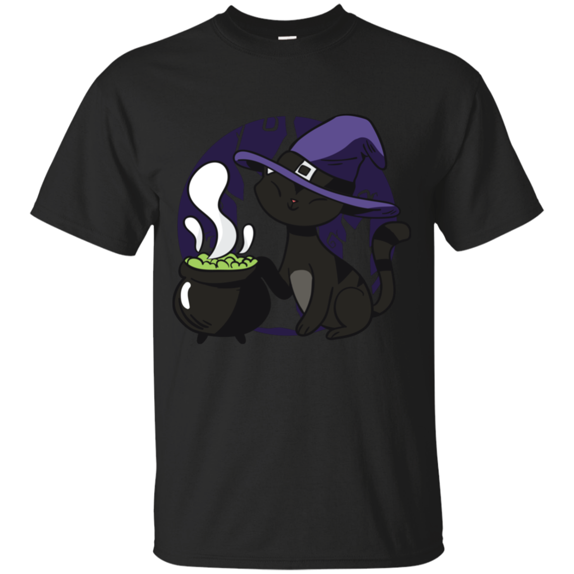 Witch Kitty Youth T-Shirt - [evil-amy-s-terror-shop]