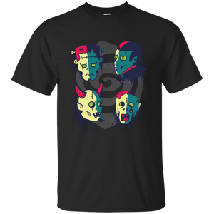 Monster Faces Youth T-Shirt - [evil-amy-s-terror-shop]