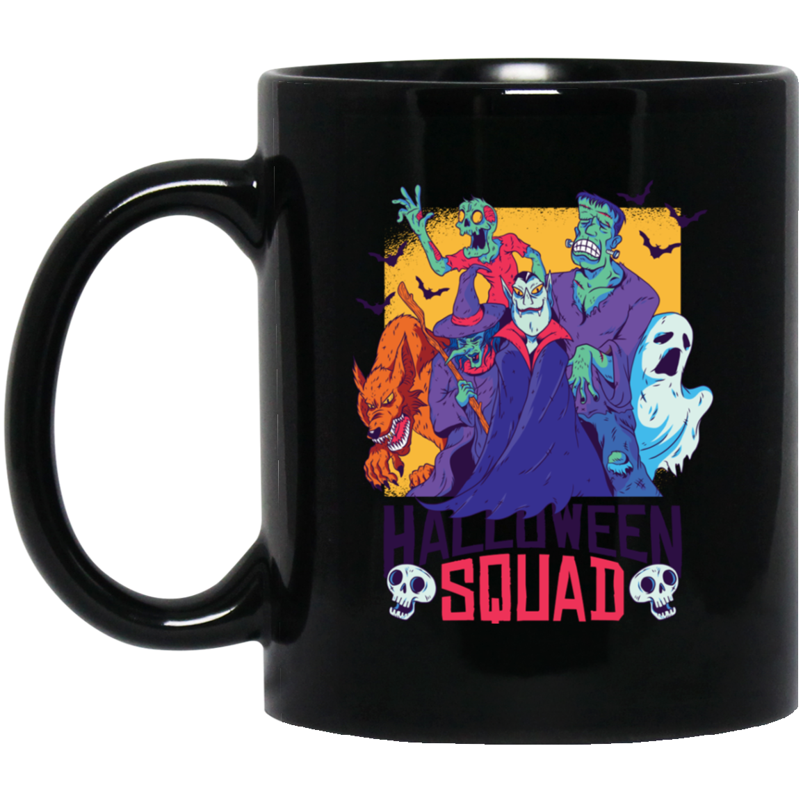 Monster Squad 11 oz. Black Mug - [evil-amy-s-terror-shop]