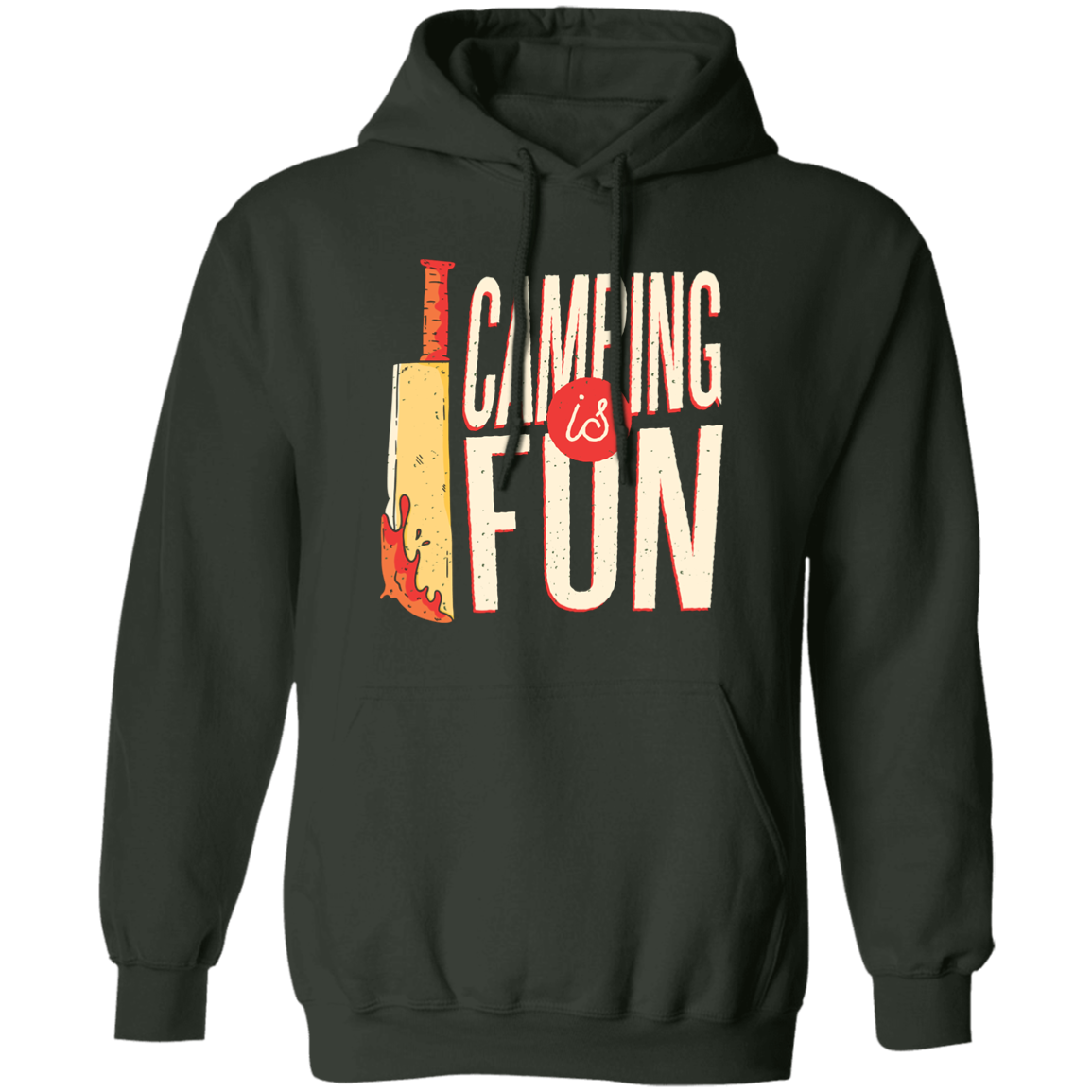 Camping Is Fun Pullover Hoodie