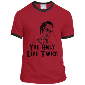 You Only Live Twice Ringer Tee - [evil-amy-s-terror-shop]