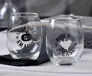 Halloween Design Wine Glasses - [evil-amy-s-terror-shop]