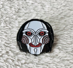 Saw Billy Face Enamel Pin - [evil-amy-s-terror-shop]