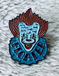 IT Pennywise Face Enamel Pin - [evil-amy-s-terror-shop]