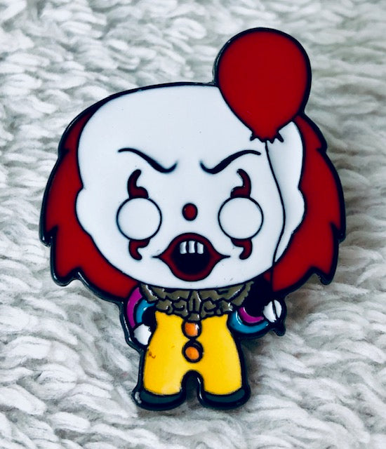 IT Pennywise With Balloon Enamel Pin - [evil-amy-s-terror-shop]