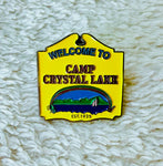 Camp Crystal Lake Enamel Pin - [evil-amy-s-terror-shop]