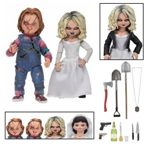 Childs Play Ultimate Chucky and Tiffany 7-Inch Scale Action Figure 2-Pack - [evil-amy-s-terror-shop]