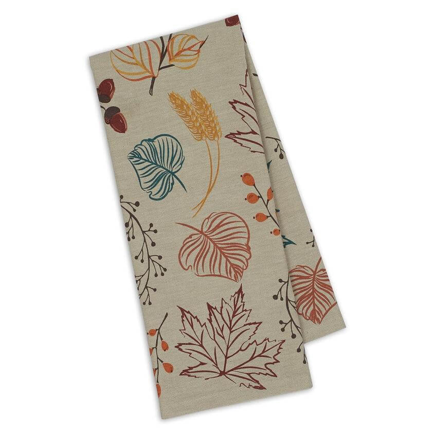 Autumn Leaves Tea Towel - [evil-amy-s-terror-shop]