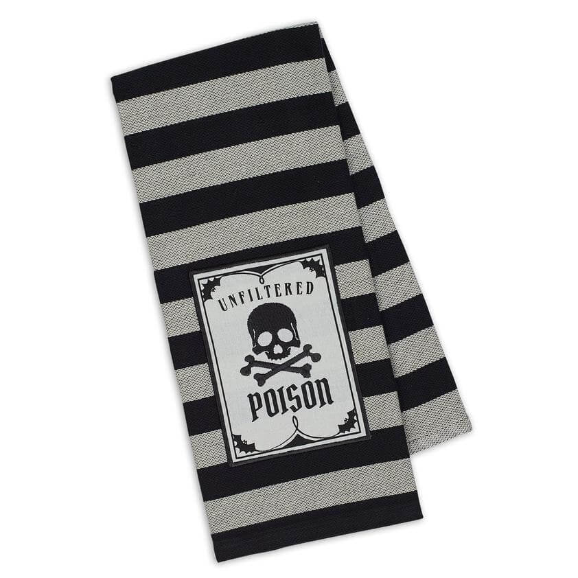 Poison Skull Tea Towel - [evil-amy-s-terror-shop]