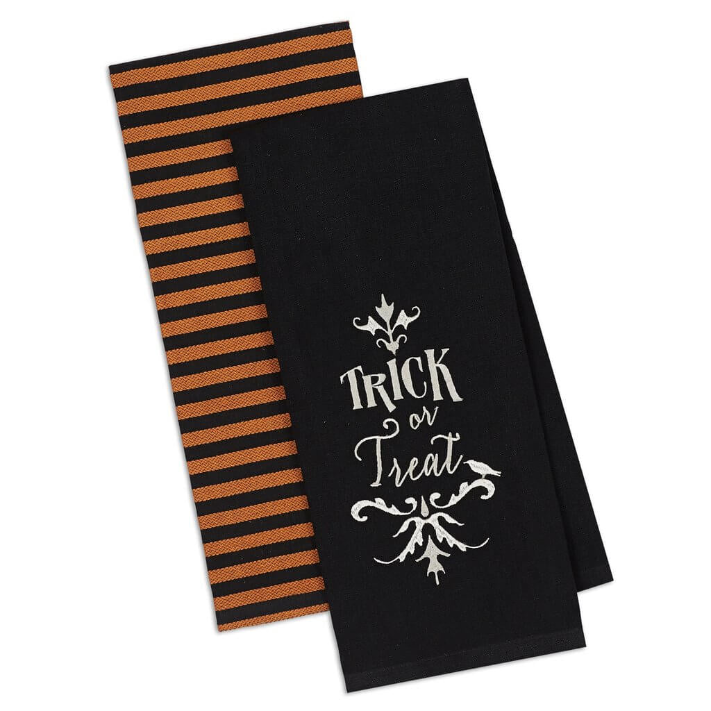 Trick or Treat Tea Towels - Set of 2 - [evil-amy-s-terror-shop]