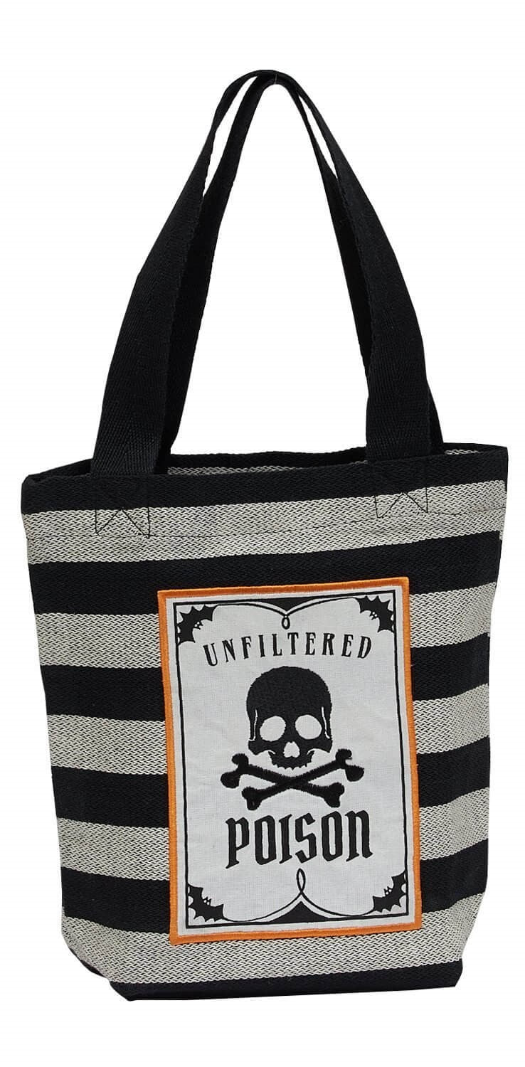 Poison Skull Tote Bag - [evil-amy-s-terror-shop]