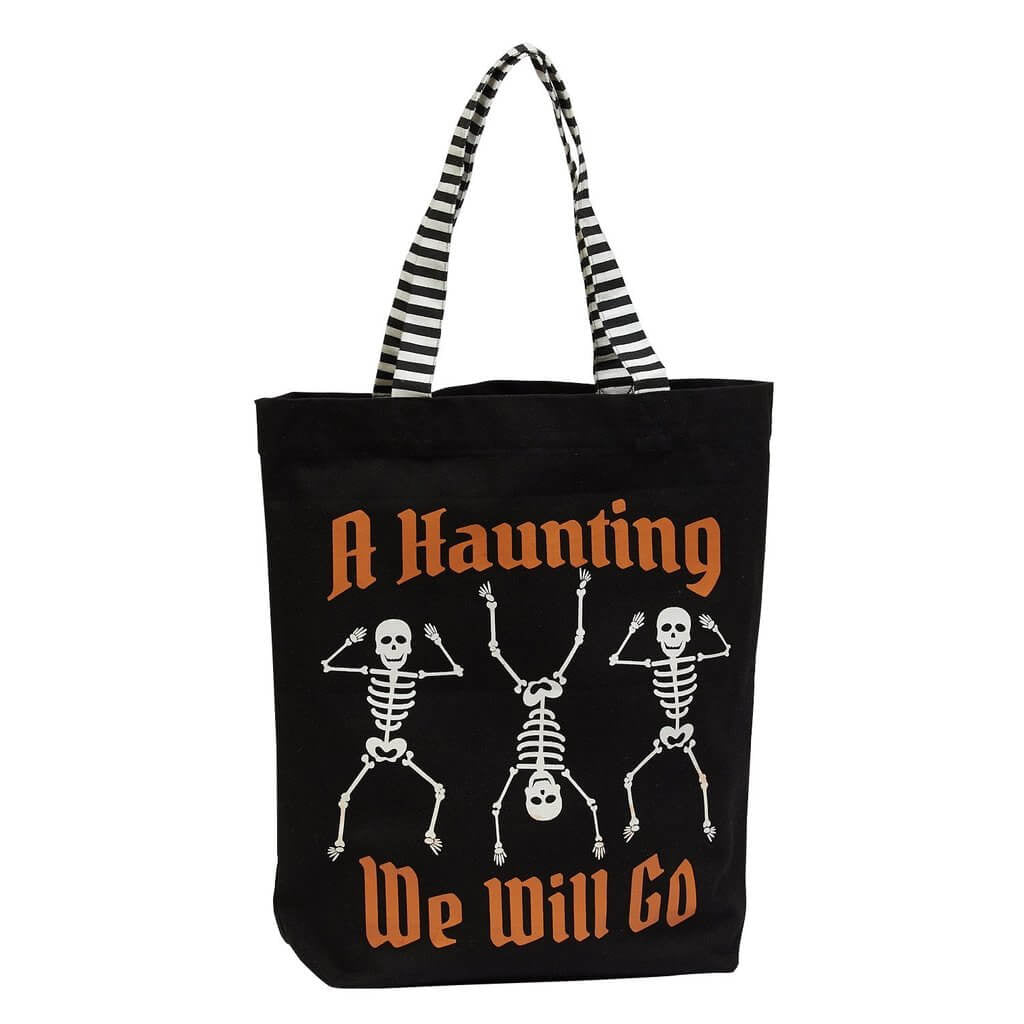 Skeletons Haunting Tote Bag - [evil-amy-s-terror-shop]