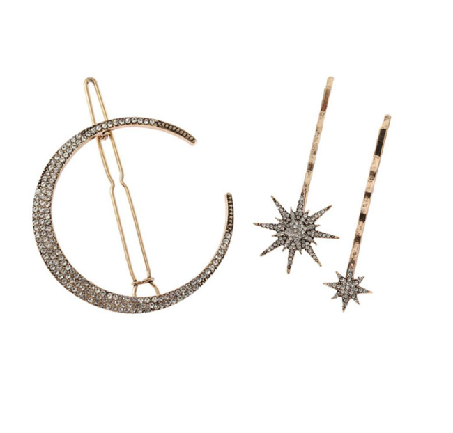 Dream Big - Stars and Moon Hair Pins