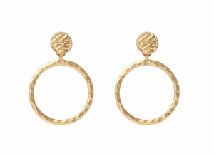 Diva Retro Gold Earrings