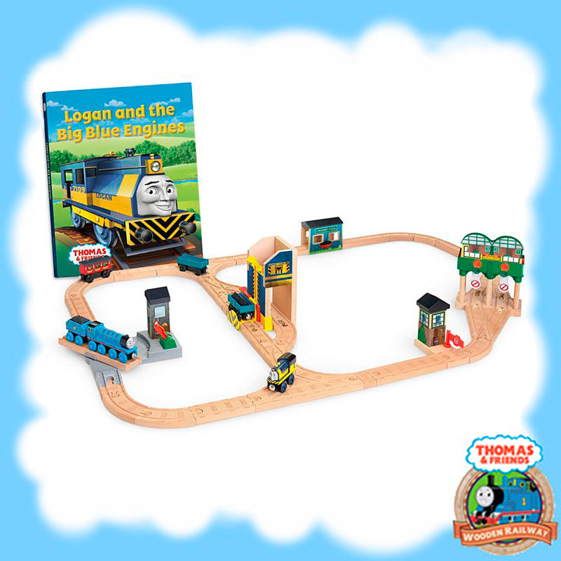 LOGAN AND THE BIG BLUE ENGINE PLAY SET - CCX63