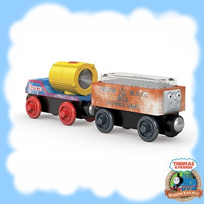 Thomas & Friends Wooden DUSTIN COMES IN FIRST ACCESSORY PACK - DGK78
