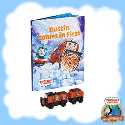 Thomas & Friends Wooden DUSTIN COMES IN FIRST BOOK PACK - DHL40