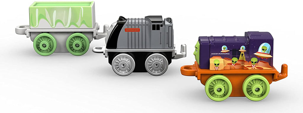 THOMAS & FRIENDS MINIS 3-PACK - SPACE IRON BERT, GHOST TROUBLESOME TRUCK & CLASSIC SPENCER
