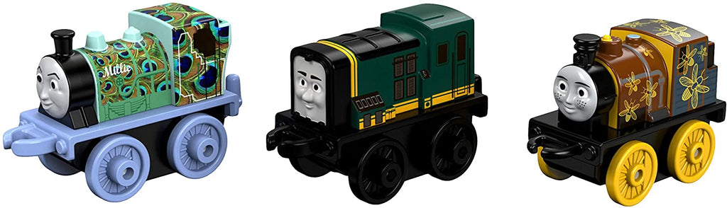 THOMAS & FRIENDS MINIS 3-PACK - NIGHT TIME DASH, PEACOCK MILLIE & CLASSIC PAXTON