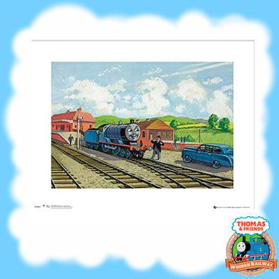 VINTAGE THOMAS & FRIENDS ART PRINT - EDWARD