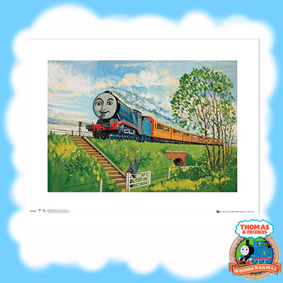 VINTAGE THOMAS & FRIENDS ART PRINT - GORDON