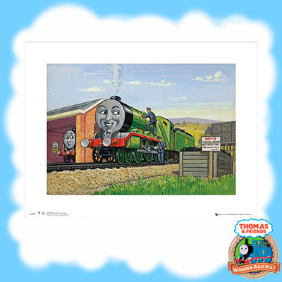 VINTAGE THOMAS & FRIENDS ART PRINT - HENRY