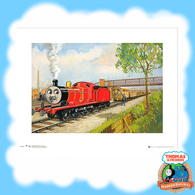 VINTAGE THOMAS & FRIENDS ART PRINT - JAMES