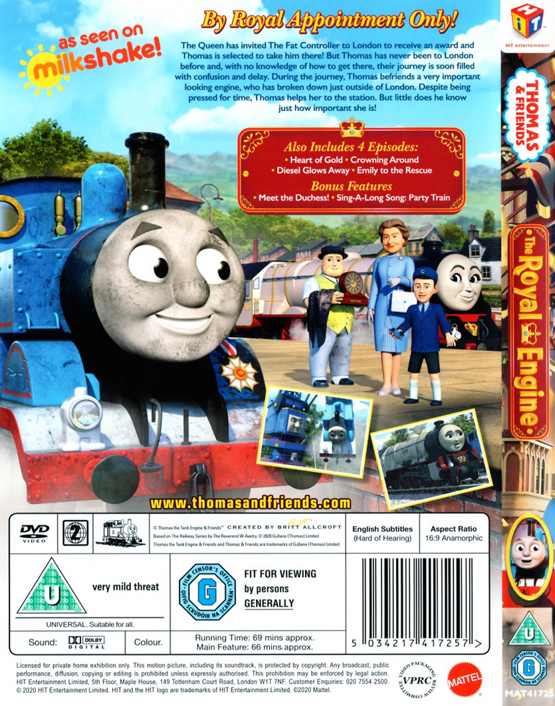 THOMAS AND THE ROYAL ENGINE - DVD AND BOOK