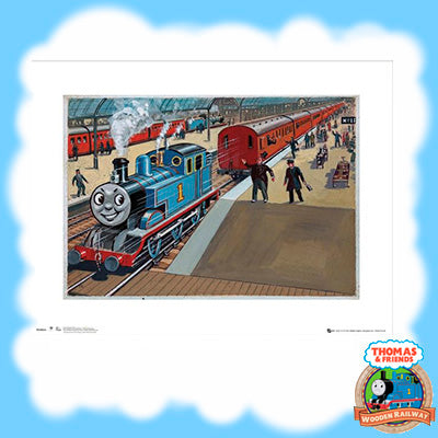 VINTAGE THOMAS & FRIENDS ART PRINT - THOMAS IN STATION